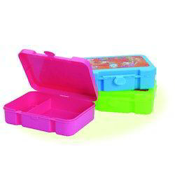 Plastic Colored Lunch Box