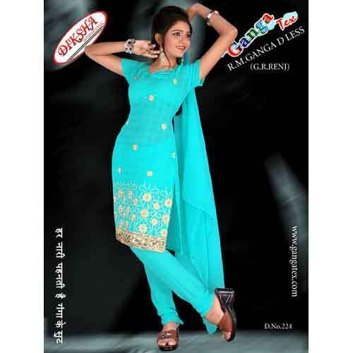 Sky Blue Color Dress Material