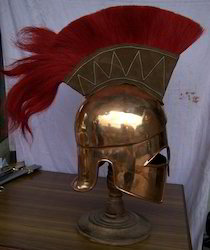 Corinthian Helmet In Copper With Crest