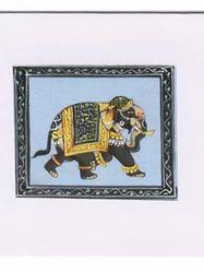 Greeting Card Silk Work