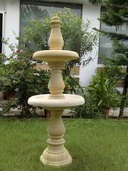 Beige Garden Fountain