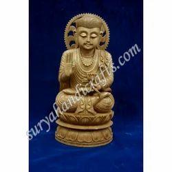 Wooden Sitting Buddha