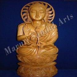 Sandalwood Fine Work Blessing Buddha
