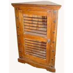Iron Rod Door Corner Chest