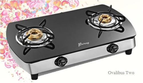 Two Burner Gas Stove With Glass Top at Rs 1800 unit Sabzi Mandi