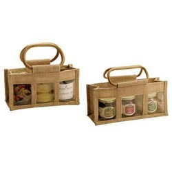 Jute Three Jar Bag