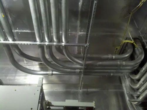 erection of ms conduit wiring system in juinagar, navi mumbai