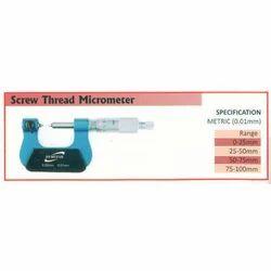Screw Thread Micrometer (Range 0-25mm)