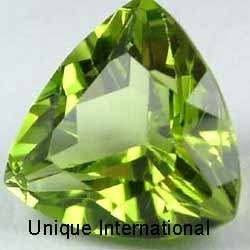 Peridot Trillion Cut Gemstone