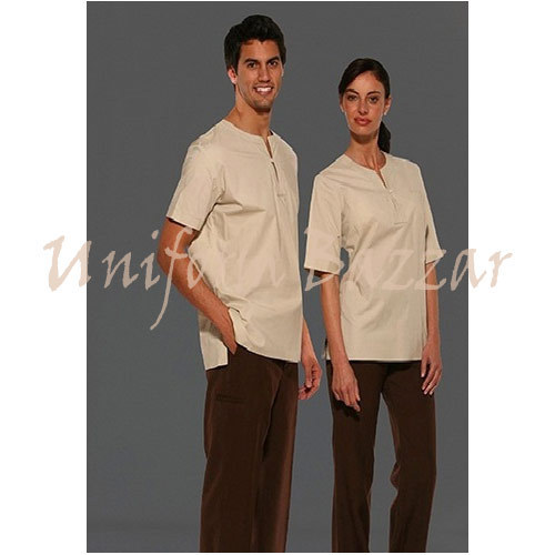 Spa uniform beauty work wear manufacturer from mumbai for Spa uniform female