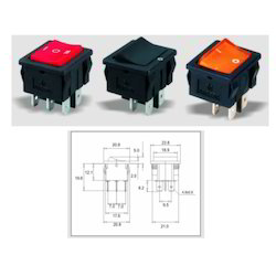 Double Pole Power Rocker Switches