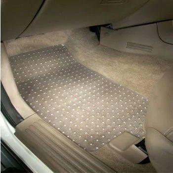 Khurana Industries White Car Transparent Floor Mats For