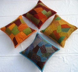 Handmade Embroidered Cushion Cover