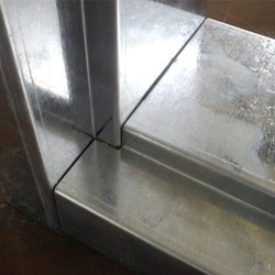 Color Coated Galvanize Steel Sheet Metal Door And Window Frame, Thickness: 1.2 Mm, Material Grade: GPSP