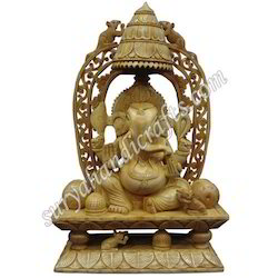 Wooden Chatri Ganesha With Stand