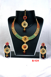 Gold Plated Polki Necklace Set