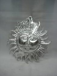 White Metal Surya Face Wall Hanging