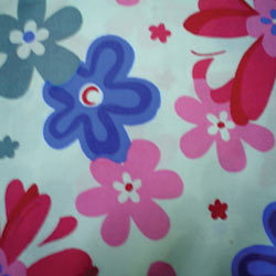 flower print cotton knitted fabrics