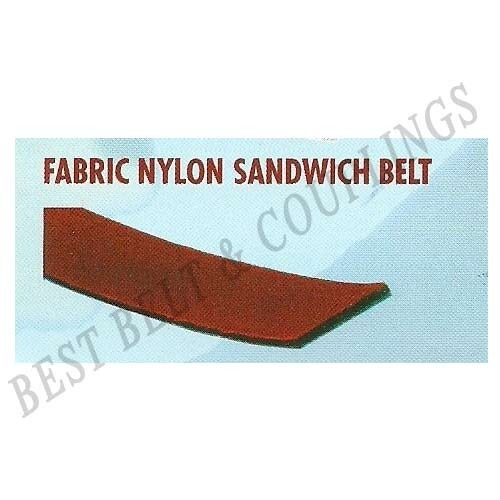 Black Fabric Nylon Sandwich Belt