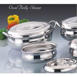 Oval Belly Shape Stainless Steel Utensils Set
