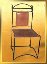Leather Wrought Iron Chairs