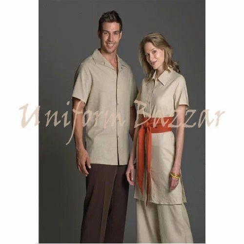 Cotton beautician spa uniform spau 32 gaurav for Spa uniform cotton