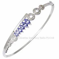 Tanzanite Bracelet Design With Diamonds