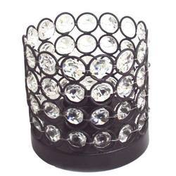 Modern Table Top Metal & Crystal T- Lites Candle Holder