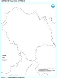 Himachal Outline For State Map