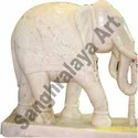 Elegantly Carved Elephant Statue