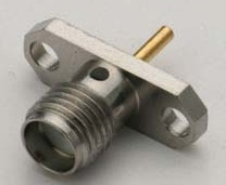SMA Female 2 Hole Connector Solder End