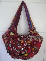 Vintage Sari Hand Bag