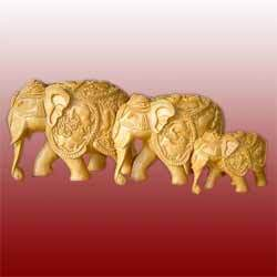 Elephant Wooden Statues