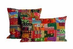 New Vintage Patchwork Kantha Cushion