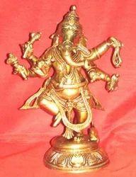 6 Hand Brass Ganesha
