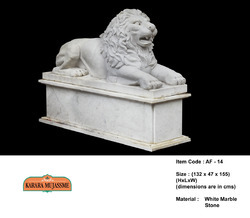 White Lion Marble Stone Animal Figure
