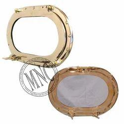 Brass Oval Shape Porthole Window