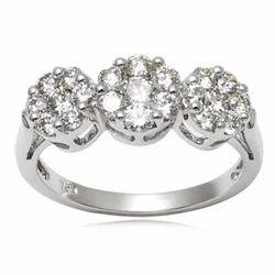 White Diamond Jewelry Ring