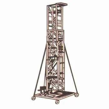 Aluminium Tower Ladder Aluminum Extendable Tower Ladder