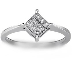 Enigma Nine Stone Diamond Ring