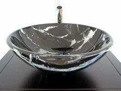 Natural Stone Washbasin Black Granite Wash Basin