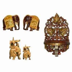 Metallic Wood Crafts