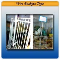 Wire Baskets Type Stand