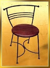 Wooden Wrought Iron Chairs