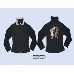 Black Antipilling Riding Jackets