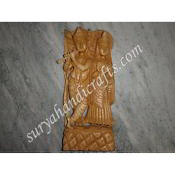 Wooden Radha Krishna