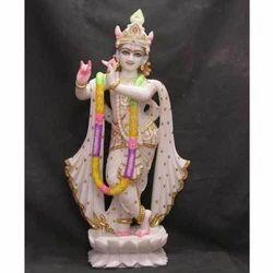 Divine Krishna Marble Statue