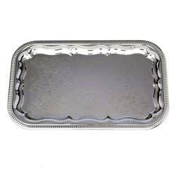 Brass Floral Tray