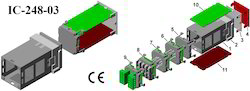 Plastic Panel Enclosure IC-248-03 DIN 48x48x90
