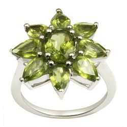 Silver Sterling Peridot Ring